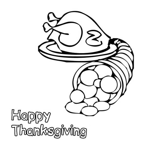 Free Printable Cornucopia Coloring Pages - Coloring Home | 600x600