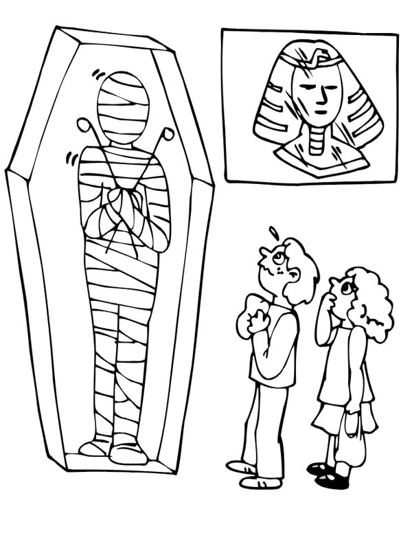 Visiting Museum Mummy Exhibition