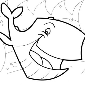Laughing Whale Sea Animals Coloring Page