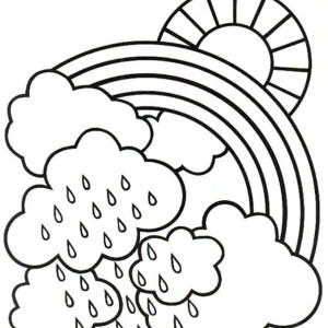 A Bit Rainy Day Make A Lovely Rainbow Coloring Page