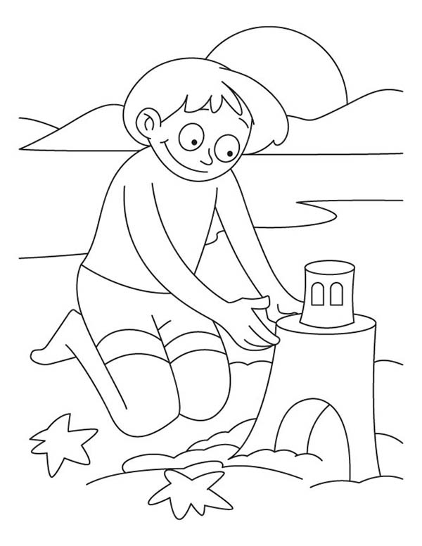 sand beach coloring pages - photo#22