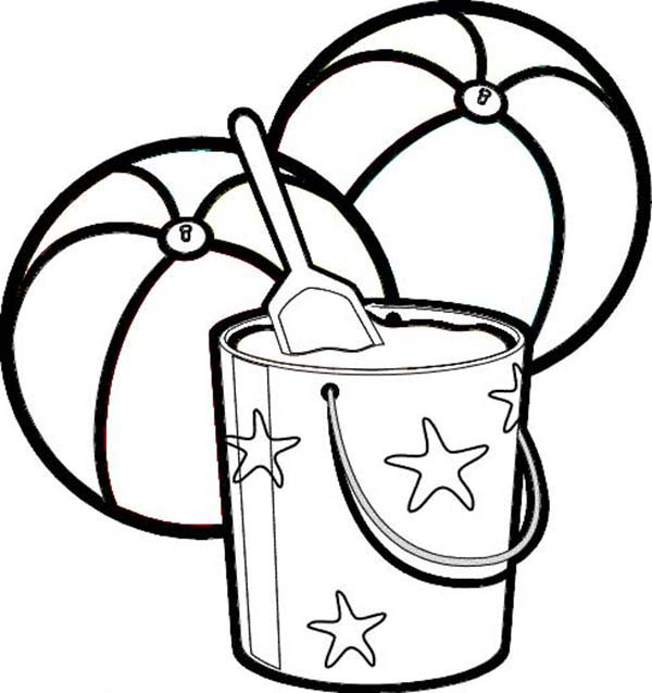 It is an image of Dynamite Sand Bucket Coloring Page
