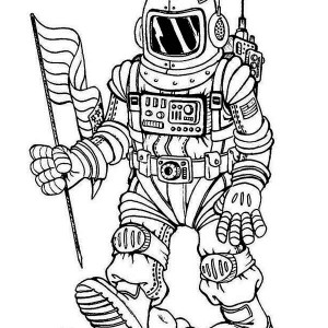 A Fantasy Image Of Future Astronaut Coloring Page