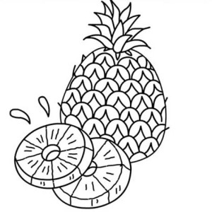 A Juicy Slice Of Pineapple Coloring Page
