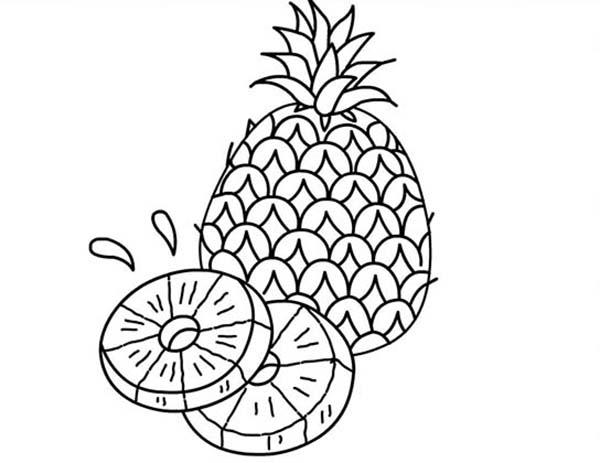 A Juicy Slice Of Pineapple Coloring