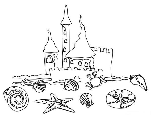 sand castle coloring pages kids - photo#10