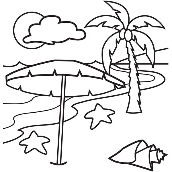 island coloring pages A Lovely Beach On Tropical Island Coloring Page   Download & Print  island coloring pages