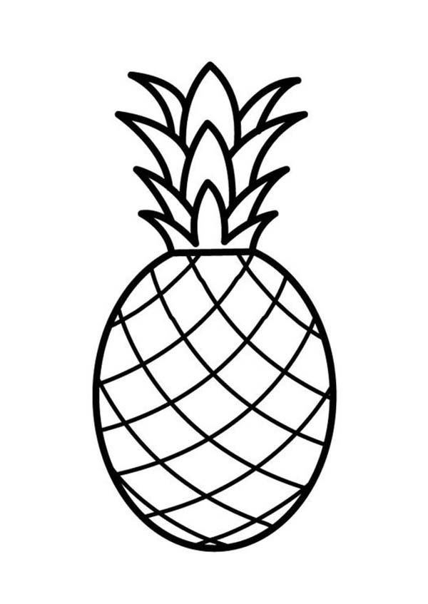 A Pale Pernambuco Pineapple Coloring Page Download