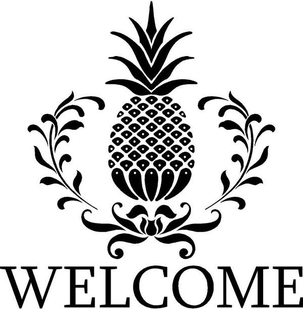 A Pineapple Weling Logo Coloring