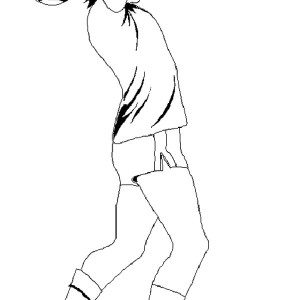 A Player Doing A Throw In Soccer Coloring Page