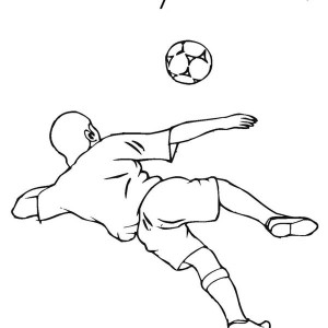 A Soccer Player Doing A Direct Shoot To The Goalie Coloring Page