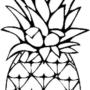 A Sweet Caribbean Pineapple Coloring Page