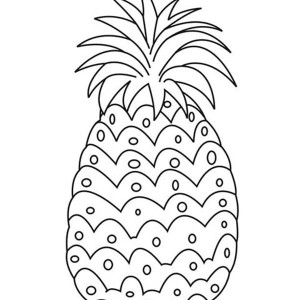 A Sweet Mexican Sugarloaf Pineapple Coloring Page