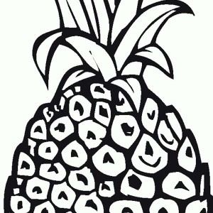 A Sweet Natal Queen Pineapple Coloring Page