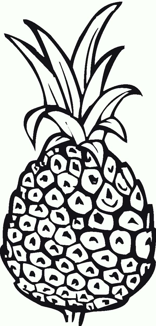 Pineapple A Sweet Natal Queen Coloring Page
