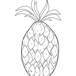 A Wierd Pattern Pineapple Coloring Page