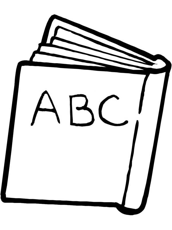 An Abc Book For First Day Of School Coloring Page Download Print