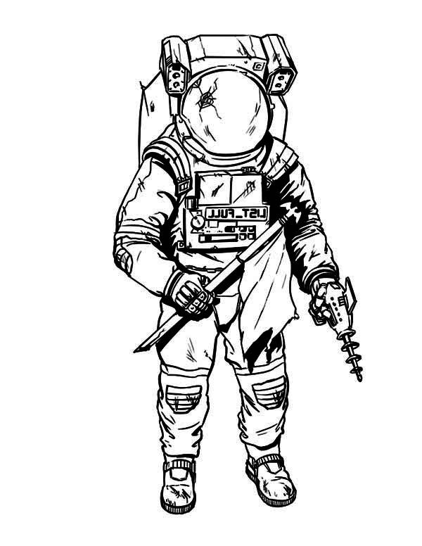 astronaut space drawing - photo #23
