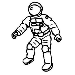 An Astronaut On His Space Suit Coloring Page