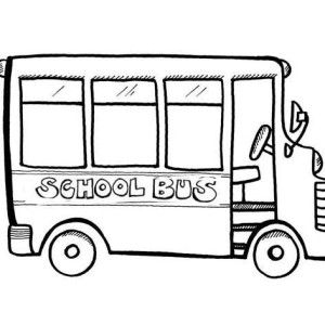 An Empty School For First Day Of School Coloring Page