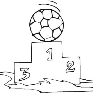 An Enjoyful Moment Of Winning The Soccer Competition Coloring Page
