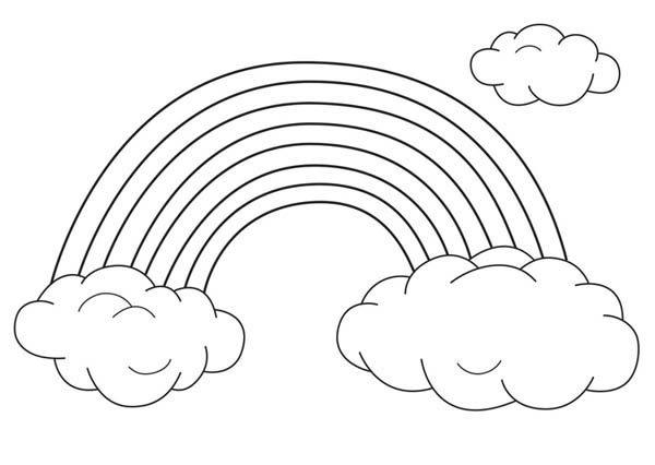 An Unique Rainbow Between Two Clouds Coloring Page Download