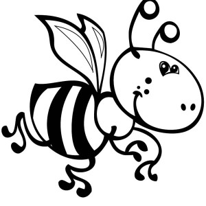 Artistic Bumblebee Illustration Coloring Page