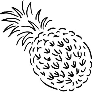 Artistic Illustration Of Pineapple Coloring Page