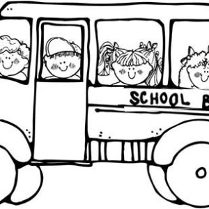 Doing Field Trip On The First Day Of School Coloring Page