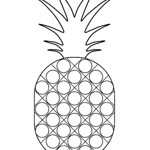Dotted Pattern Pineapple Coloring Page