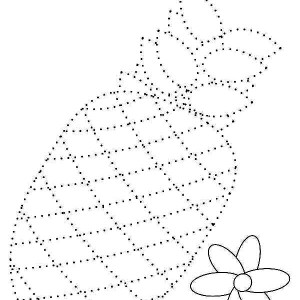Draw The Pineapple Dotted Sheet Coloring Page