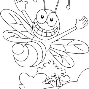 Hilarious Bumblebee Doing Acrobatic Move In The Air Coloring Page
