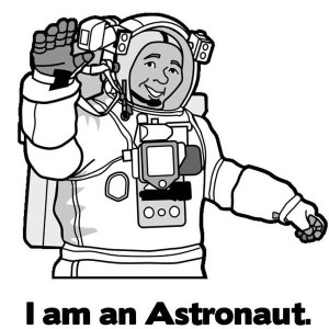 I Am An Astronaut Say This Guy Coloring Page
