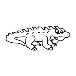 Iguana Cartoon Coloring Page
