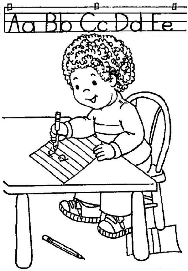 school kids coloring pages | Learn ABC On First Day Of School Coloring Page - Download ...