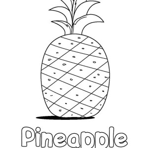 Learn The Word Pineapple Coloring Page