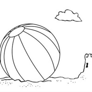 Lets Play With A Beach Ball Coloring Page