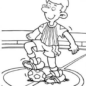 Lets Start The Soccer Game With The First Kick Coloring Page