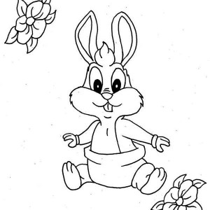 Lovely Baby Bugs With Diaper Coloring Page
