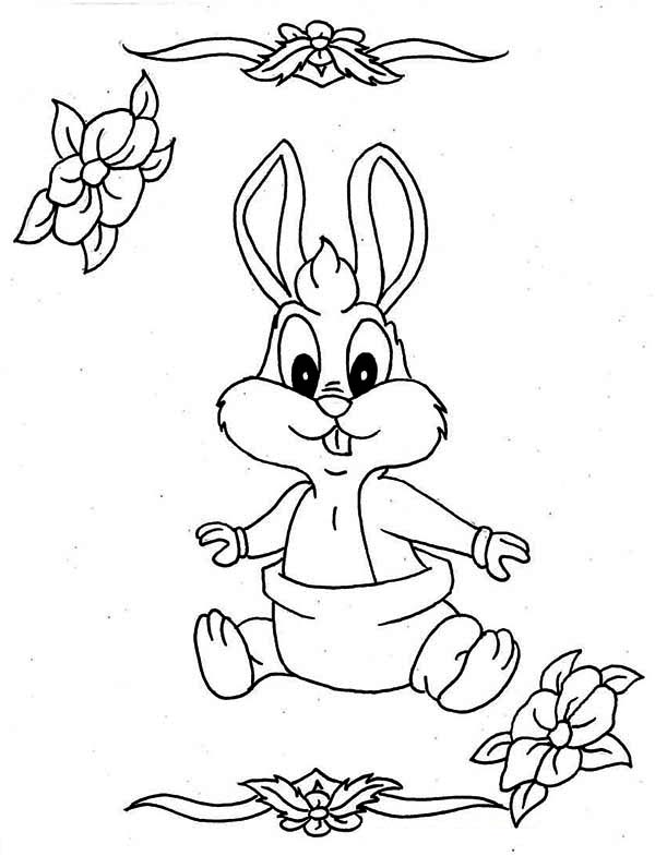 Lovely Baby Bugs With Diaper Coloring Page Download Print Online
