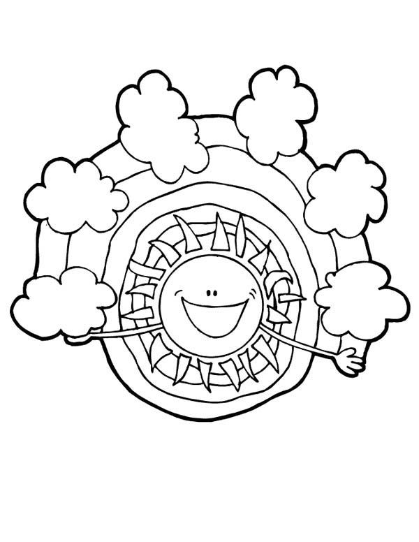Meet My Friend Rainbow Say The Sun Coloring Page Download Print Online Coloring Pages For Free Color Nimbus