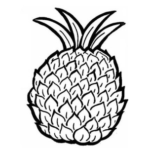 Natal Queen Pineapple The Sweetest Type Of All Coloring Page