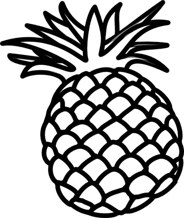 Philippines Queen Sweetest Pineapple Coloring Page Download