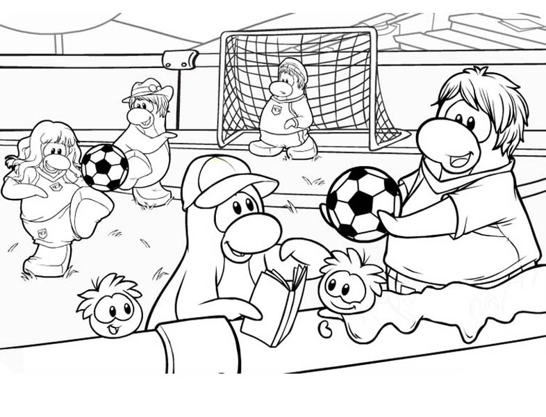 Playing Soccer Game After School Coloring Page Download