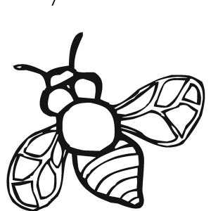Realistic Image Of Busy Bumblebee Coloring Page