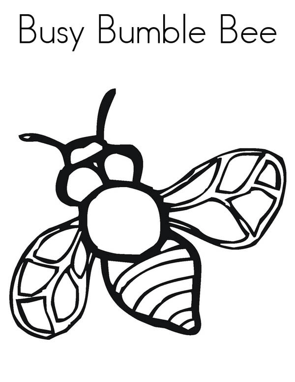 Realistic Image Of Busy Bumblebee Coloring Page Download Print