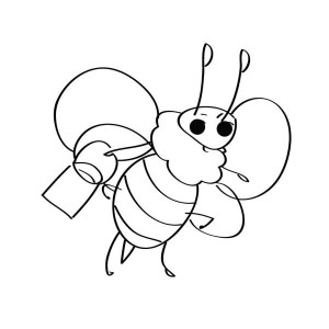 Simple Drawing Of Bumblebee Coloring Page