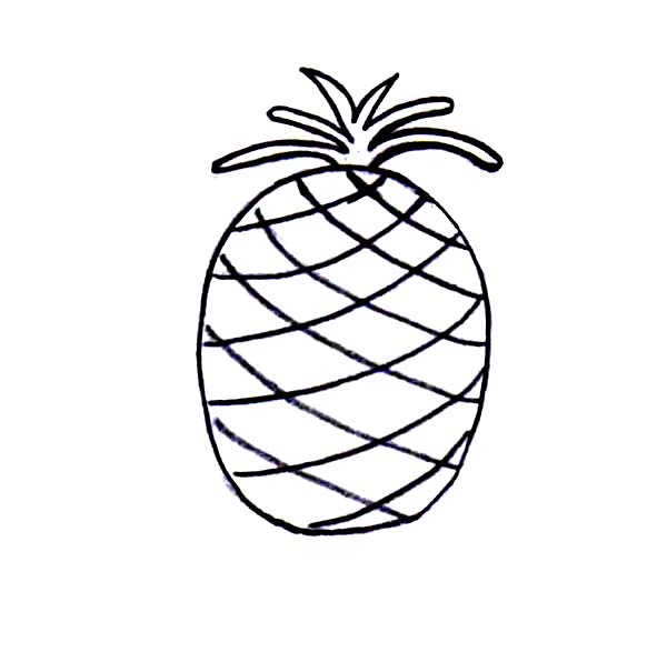 Simple Drawing of Pineapple Coloring Page - Download ...