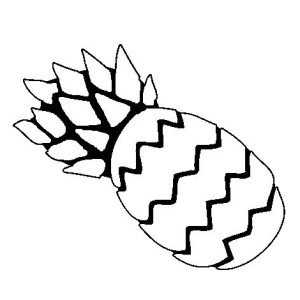 Simple Illustration Of Pineapple Coloring Page