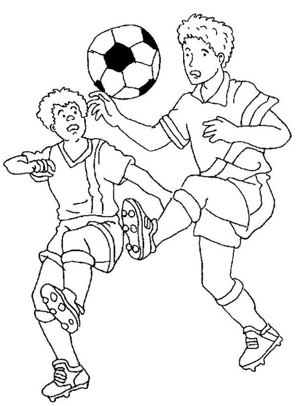 Soccer sport coloring page for kids, printable free | 810x600